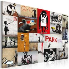 Tableau Banksy - collage