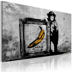 Tableau Inspired by Banksy - black and white