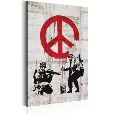 Tableau Soldiers Painting Peace by Banksy