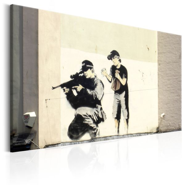 Tableau Sniper and Child by Banksy