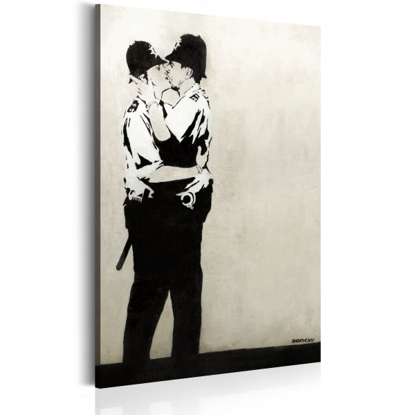 Tableau Kissing Coppers by Banksy