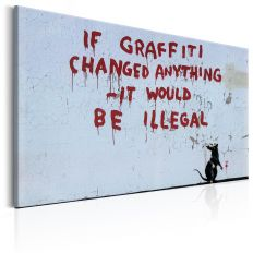 Tableau If Graffiti Changed Anything by Banksy