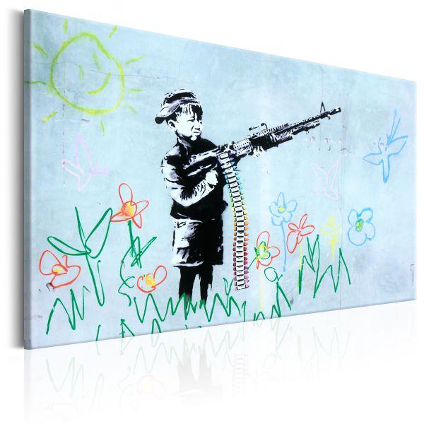 Tableau Boy with Gun by Banksy