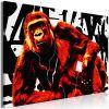 Tableau Pop Art Monkey 1 Pièce Narrow Red