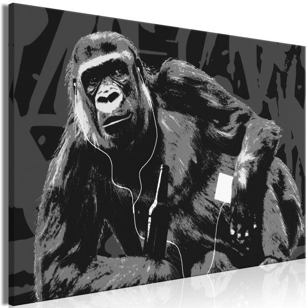 Tableau Pop Art Monkey 1 Pièce Narrow Grey