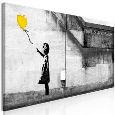 Tableau There is Always Hope 1 Pièce Narrow Yellow