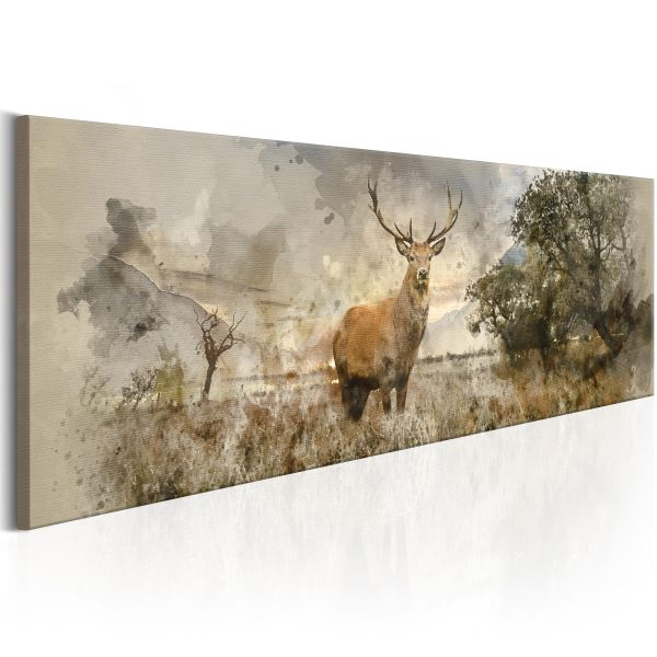 Tableau Watercolour Deer