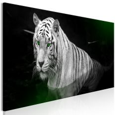 Tableau Shining Tiger 1 Pièce Green Narrow