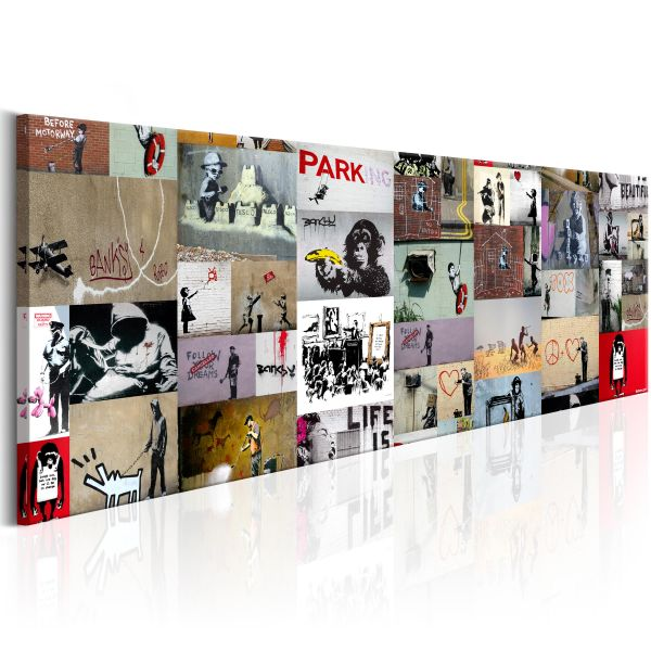 Tableau Art of Collage Banksy II