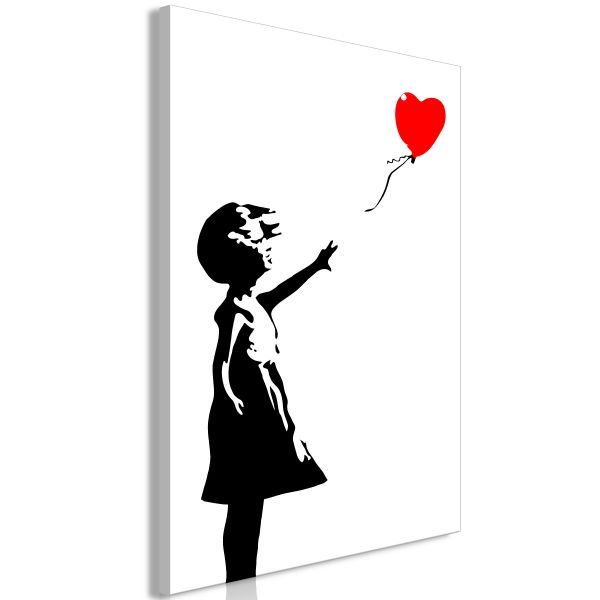 Tableau Little Girl with a Balloon 1 Pièce Vertical