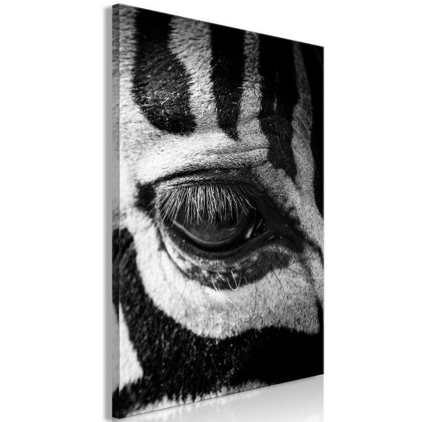 Tableau Zebra Eye 1 Pièce Vertical