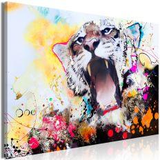 Tableau Tiger's Roar 1 Pièce Wide
