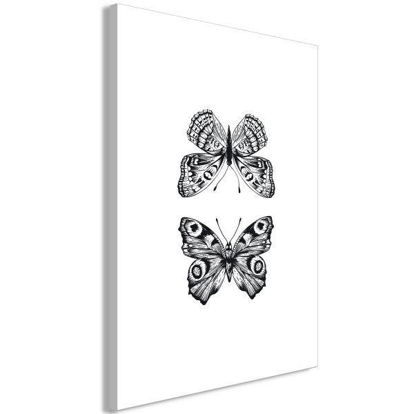 Tableau Two Butterflies 1 Pièce Vertical
