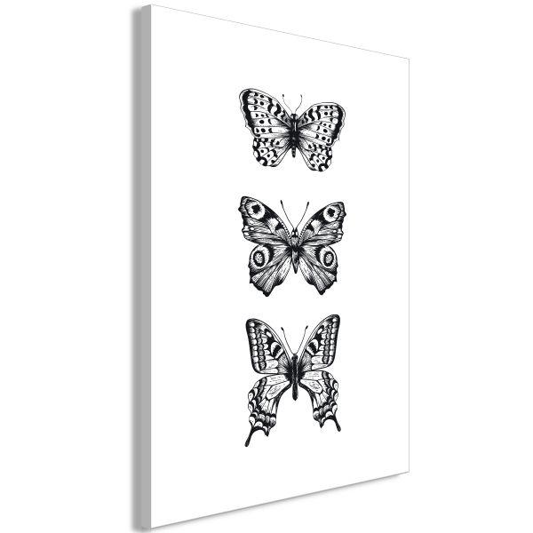 Tableau Three Butterflies 1 Pièce Vertical