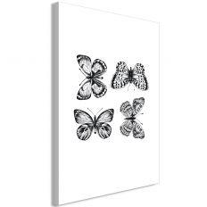 Tableau Four Butterflies 1 Pièce Vertical