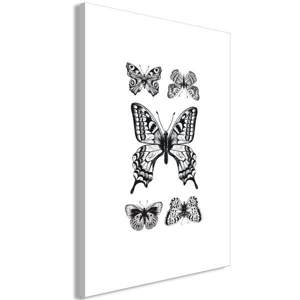 Tableau Five Butterflies 1 Pièce Vertical