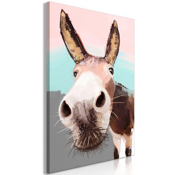 Tableau Curious Donkey 1 Pièce Vertical
