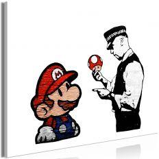 Tableau Banksy Mushroom Picker 1 Pièce Wide