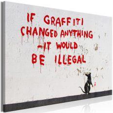 Tableau Quotes Graffiti 1 Pièce Wide