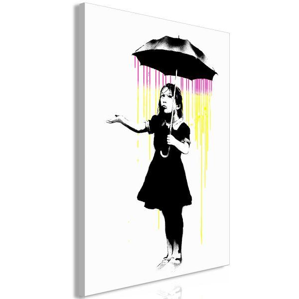 Tableau Girl with Umbrella 1 Pièce Vertical