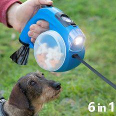 Laisse pour chiens rétractable 6 en 1