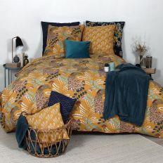 Parure de lit - Housse de couette 100% Coton 57 fils Paon