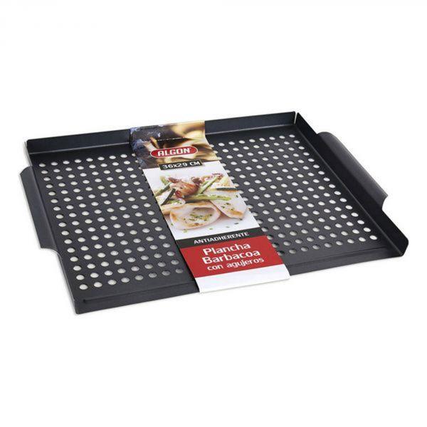 Plaque plancha à griller avec trous pour barbecue