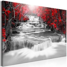 Tableau Cascade of Thoughts (1 Part) Wide Red