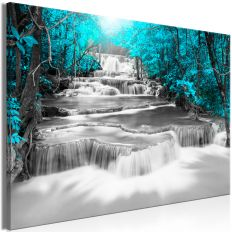 Tableau Cascade of Thoughts (1 Part) Wide Turquoise