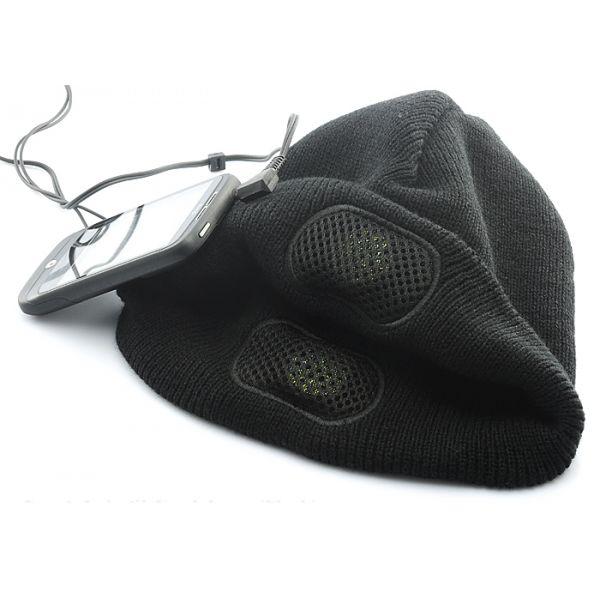 Bonnet avec écouteur intégré