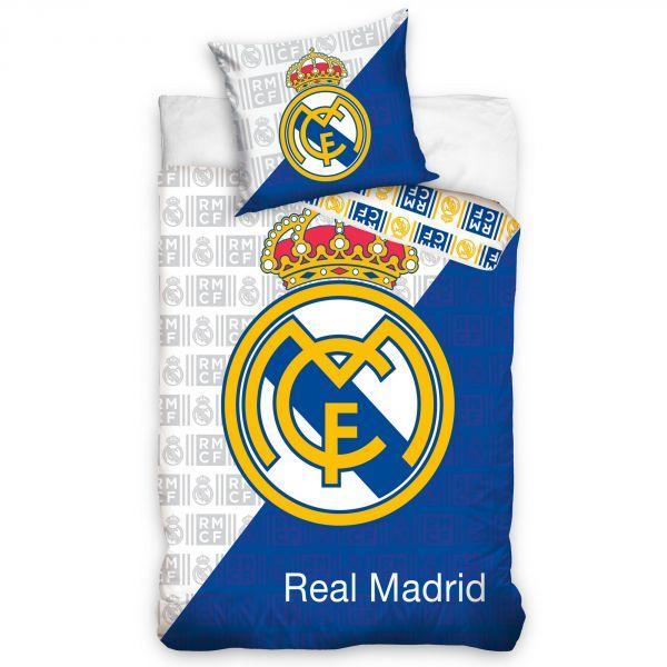 Parure de lit Real Madrid – Housse de couette football 100% coton 140x200 cm