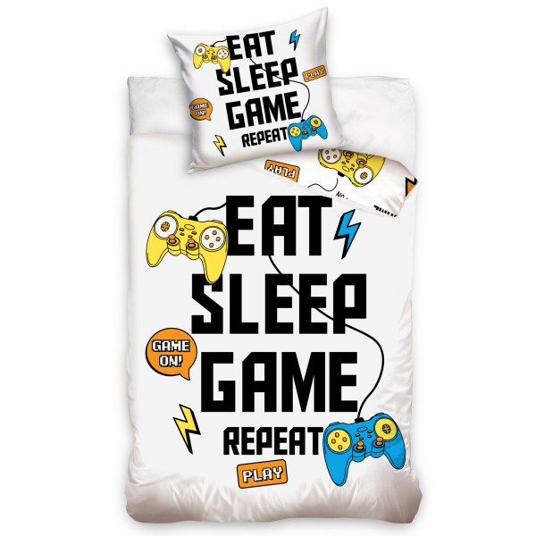 Parure de lit enfant gamer 100% coton 140x200 cm