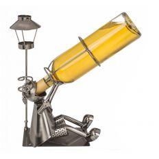 Porte-bouteille Buveur métallique