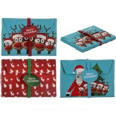 3 enveloppes cadeau de Noël (Père de Noël, Renne, Déco Noël)