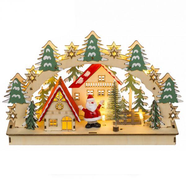 Arche en bois décoration de noël avec LED