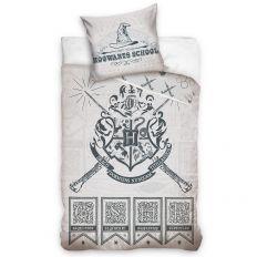 Parure de lit enfant Harry Potter – école Poudlard V2 100% coton 140x200 cm