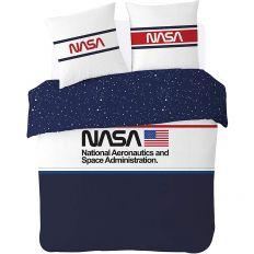 Parure de lit NASA – Bleu, Blanc, Rouge 100% coton 220x240 cm