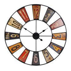 Horloge style industriel recyclerie rétro 80 cm