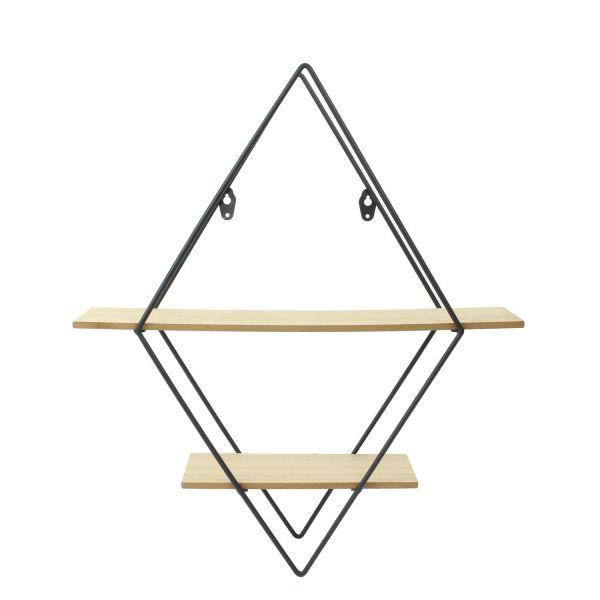 Etagère losanges en bois et métal