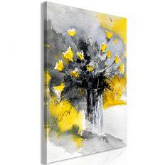Tableau Fleurs Bouquet of Colours (1 Part) Vertical Yellow