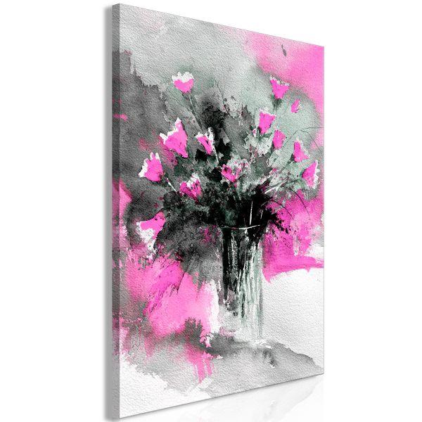 Tableau Fleurs Bouquet of Colours (1 Part) Vertical Pink