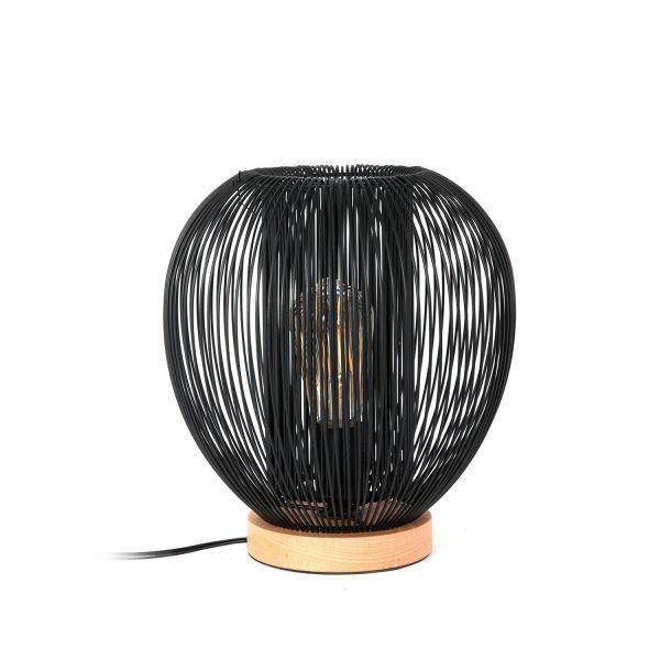 Lampe à poser moderne filaire boule noir