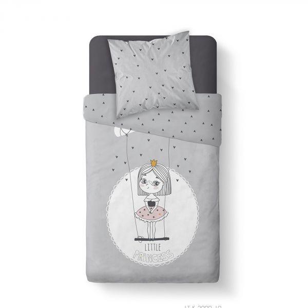 Housse de couette enfant 140x200 cm avec 1 taie d'oreiller 63x63 cm Parure de lit Coton Kids Kool 1.10