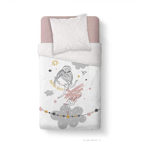 Housse de couette enfant 140x200 cm avec 1 taie d'oreiller 63x63 cm Parure de lit Coton Kids Kool 1.12