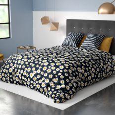 Parure de lit housse de couette avec taies d'oreiller 100% Coton 57 fils Bellis