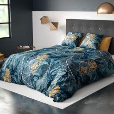Parure de lit housse de couette avec taies d'oreiller 100% Coton 57 fils Tella
