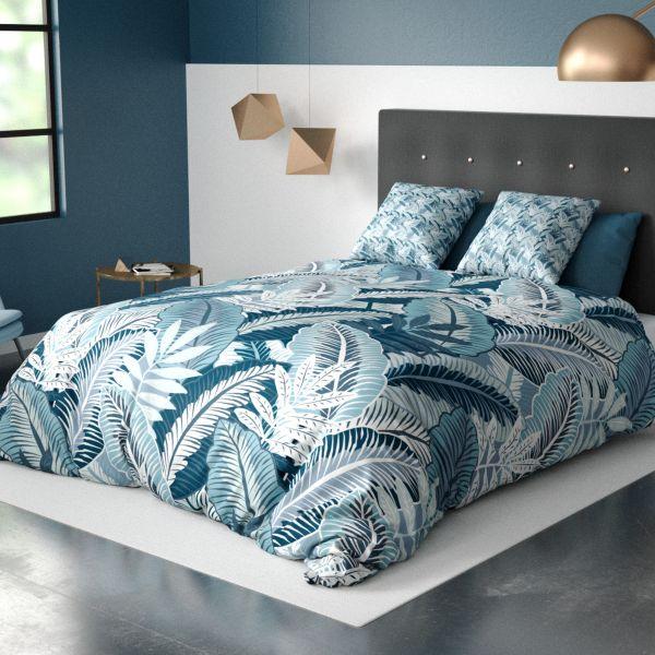 Parure de lit housse de couette avec taie d'oreiller 100% Coton 57 fils Wasilia