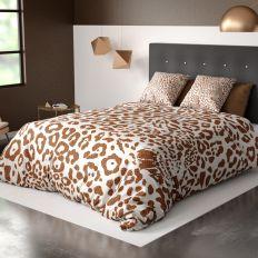 Parure de lit housse de couette avec taie d'oreiller 100% Coton 57 fils Jag Sable