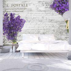 Papier peint intissé Vintage et Retro Lavender postcard