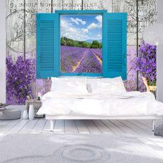 Papier peint intissé Vintage et Retro Lavender Recollection